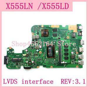 X555LN LVDS interface 4GB RAM REV:3.1 Motherboard For ASUS X555L A555L K555L F555L W519L X555LD X555LJ X555LN Laptop Mainboard