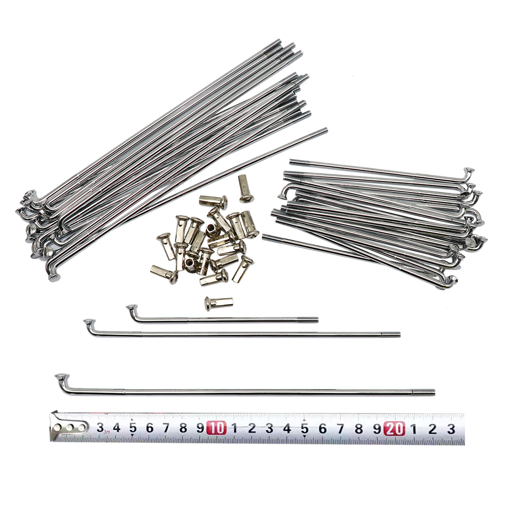 40Pcs Motorcycle Front And Rear Stainless Steel Rim Wheel Spokes Kit Set For Bmw R12 R75 R72 M1 M72 Ural Cj-K750 Silver