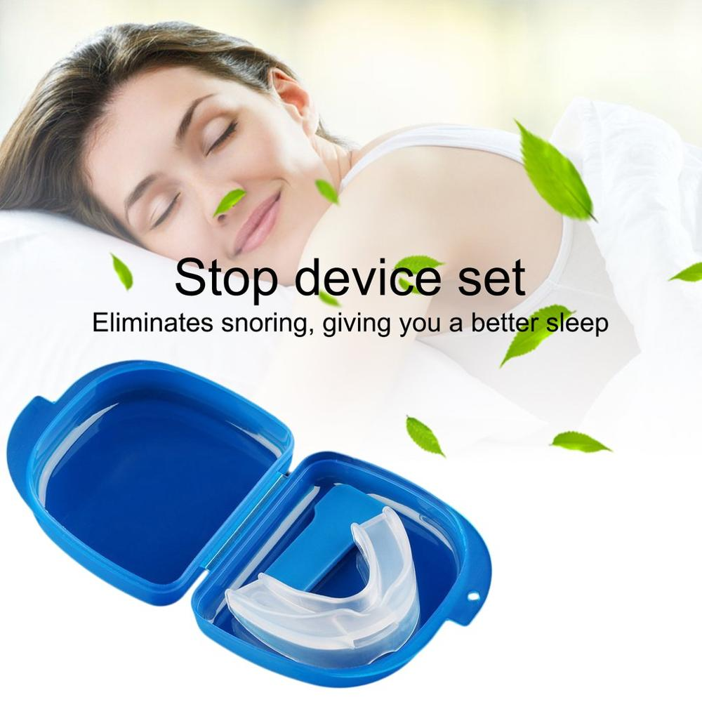 1PCS Health Mouth Guard Stop Teeth Grinding Anti Snoring Bruxism Sleep Aid Tool Eliminates Snoring Health Care Accessories