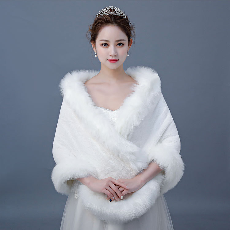 2020 New Arrival Wedding Bridal Jacket Shawl Women's Autumn And Winter New Bride Wedding Dress Cheongsam Bridesmaid Coat Warm