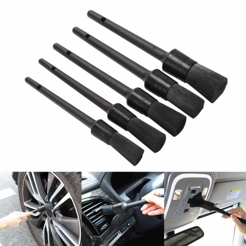5 Pcs Auto Detailing Cleaning Brush Set Car Cleaning Tool Kit Zachte Borstel Voor Interieur Dashboard Velgen