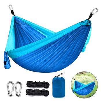 цена на Camping Hammock Portable Nylon Hammock Tent Parachute Fabric For Travel Hiking Backpacking Camping Hanging Chair