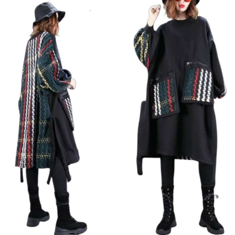 Oversize Sweater Women In Womens Pullover Fashion Splicing Leisure Harajuku Riverdale Streetwear Aesthetic Sueter Mujer