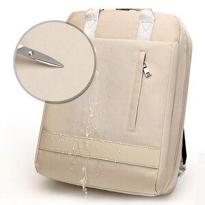 Image 5 - 2019 frauen USB Ladung Laptop Rucksack Tasche 15 15,6 zoll Notebook PC Tablet Rucksack Daypack für Macbook Dell HP HUAWEI