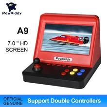 Powkiddy A9 Tay Cầm Chơi Game Video Trò Chơi Cổ Điển Retro 7.0 Inch Màn Hình HD 3000 Trò Chơi Với Hai Tay Cầm Chơi Game Điện Tử Hỗ Trợ thẻ TF