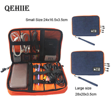Double Layer Travel USB Cable Storage Bag Gadget Organizer Electronic Digital Kit Pouch Ipa