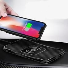 צ י אלחוטי מטען לרכב אלחוטי טעינת Dock pad עבור סמסונג הערה 10 מהיר טלפון מטען עבור iPhone 11 פרו XS max XR 12 מיני