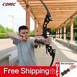 Arco recto de 30-50 libras potente arco recurvo Venta caliente flechas de arco profesional para la competencia de tiro de caza al aire libre