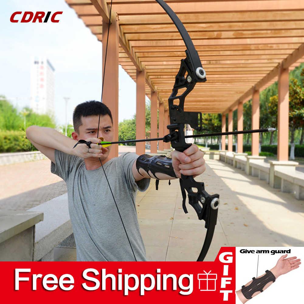 Arco recurvado poderoso arco, 30-50lbs, tiro ao alvo, profissional, para competição, tiro, caça ao ar livre
