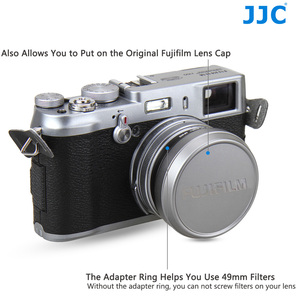 Image 2 - JJC Metal Lens Hood Shade with 49MM Filter Adapter Ring for Fuji FUJIFILM X100F X100T X100S X100 Camera Replaces AR X100 LH X100