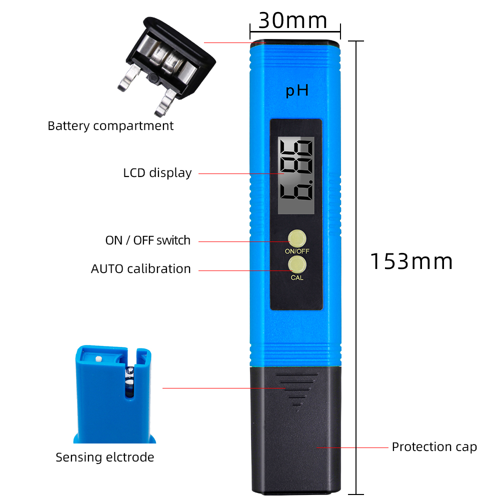 10pcs Pocket water PH meter LCD display digital tester with Automatic calibration ATC 0.01 with retail box for  Aquarium 43% off