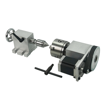 Tailstock and Rotary A Axis 4th Axis for CNC Router Engraver Milling Machine cnc rotary axis activity tailstock chuck 80mm 4 axis cnc 6040 z s80 engraver router milling lathe machine with rotary axis and 1 5kw spindle four axis cnc6040 for 3d cnc