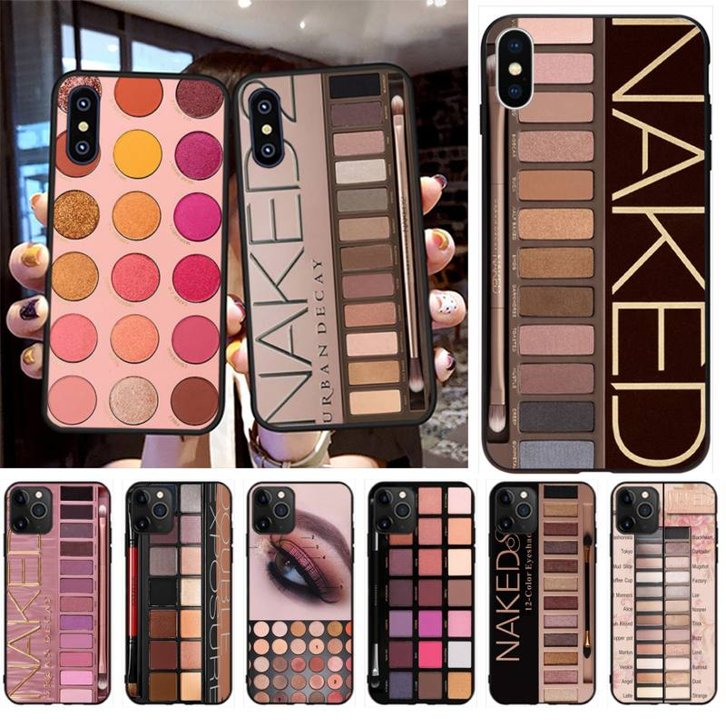 PENGHUWAN Naked Palette Fashion Glam <font><b>Makeup</b></font> Eye shadow box Phone <font><b>Case</b></font> for <font><b>iPhone</b></font> 11 pro XS MAX 8 7 6 <font><b>6S</b></font> <font><b>Plus</b></font> X 5S SE XR <font><b>case</b></font> image
