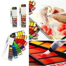 Акварельные краски в наборе 42/33/25 яркие цвета складной профессиональный