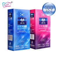 Preservativos de dulce sueño vida 100 unids/lote Látex Natural liso lubricado contracepción condones para hombres juguetes sexuales productos sexuales LF-011