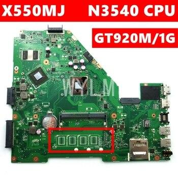 X550MJ N3540CPU GT920M/1GB 90NB0830-R00040 Mainboard REV 2.0 For ASUS X550M X550MD X550MJ X552M Y582M K550M laptop motherboard