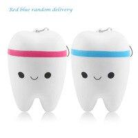 ONLENY Cute Teeth Soft PU Phone Strap Mobile Phone Accessories Cartoon Novelty Design Slow Rising Ballchain Kid Toy Fun Gift