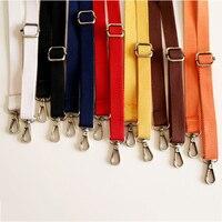 Correa ajustable de lona de 130cm para bolso Unisex, correa de hombro de repuesto, Color caramelo, Color puro, accesorios para bolso