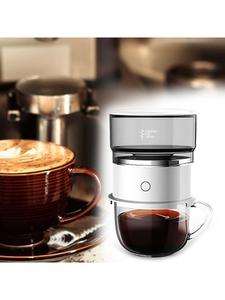 Automatic Hand Rotating Coffee Maker Stainless Steel Filter Electric Auto Coffee Machine for Home Office Outdoor Travel
