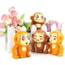 Мультяшные разноцветные обезьянки, стильная детская Милая мультяшная обезьянка, животное, ветер, бег, пластиковые заводные Классические игрушки в подарок на день рождения