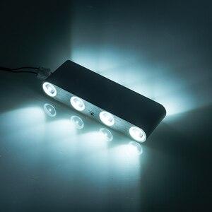 Image 5 - Ip65アップダウン壁ランプledシルバーアルミ屋外屋内ホーム階段の寝室のベッドサイドランプ浴室ライト