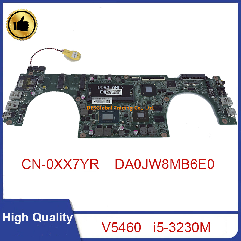 DA0JW8MB6E0 for DELL Vostro 5460 V5460 Laptop Motherboard <font><b>i5</b></font>-<font><b>3230M</b></font> 31JW8MB0120 CN-0XX7YR 0XX7YR XX7YR Mainboard 100% Test image