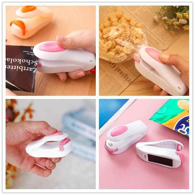 Portable Heat Sealer Handy Mini Sealing Household Storage Bags Heat Sealer Capper Foodsaver For Plastic Bags Food Package Clips