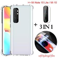 3-in-1 full glue hydrogel film Mi Note10 Lite Global Airbag Case xiomi 10pro Soft Glass Case mi10 xiaomi note10 lite Back Cover