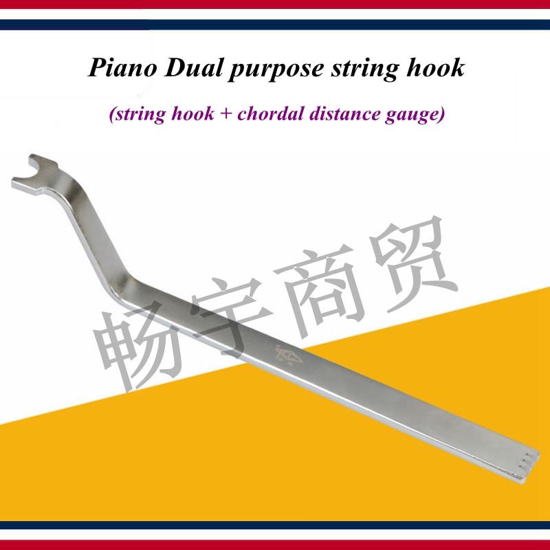 Piano Tuning Repair Tool   Piano Dual Purpose String Hook Tools  String Hook + Chordal Distance Gauge