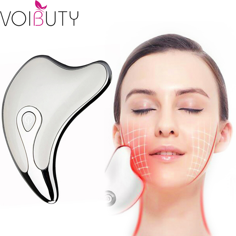 Face Neck Guasha Massager Face Wrinkle Removal Device Body Slimming Massager Electirc Facial Skin Beauty Care Scraping Tool
