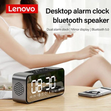 Lenovo L022 Bluetooth speakers portable wireless speakers Subwoofer speakers bluetooth 5.0 LED Alarm clock TF card AUX speakers