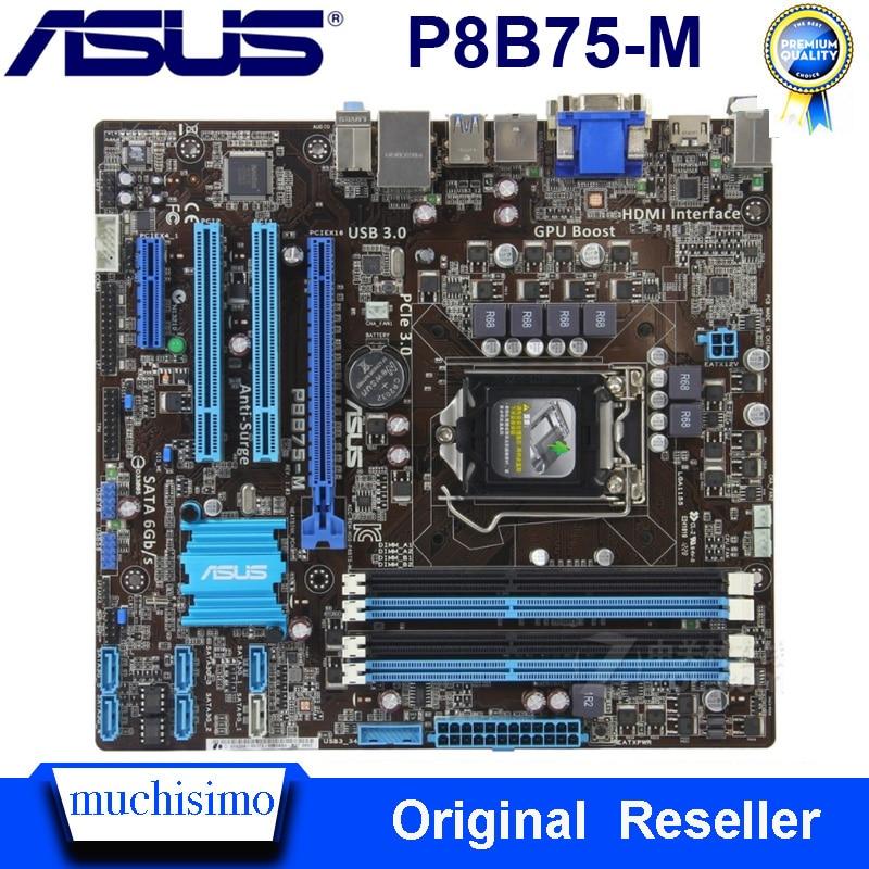LGA 1155 ASUS P8B75-M Motherboard DDR3 Cpu Core I5 I3 Pentium Celeron 32GB PCI-E 3.0 USB3.0 Original Used ASUS P8B75-M Mainboard