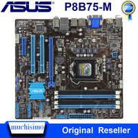 Scheda Madre LGA 1155 ASUS P8B75-M DDR3 Cpu Core i5 i3 Pentium Celeron 32GB PCI-E 3.0 USB3.0 Originale Usato ASUS p8B75-M Mainboard