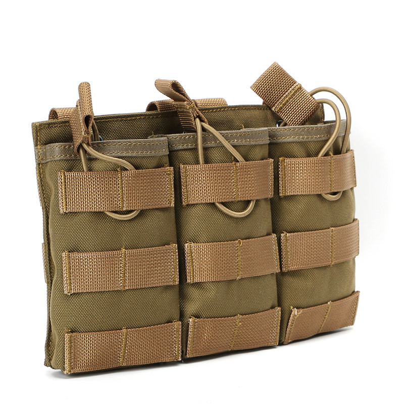 Manufacturers Direct Selling Tactical Molle Triple Dan Jia Dai Vest Accessory Kit Pannier Bag Nylon Army Fans Storage Bag