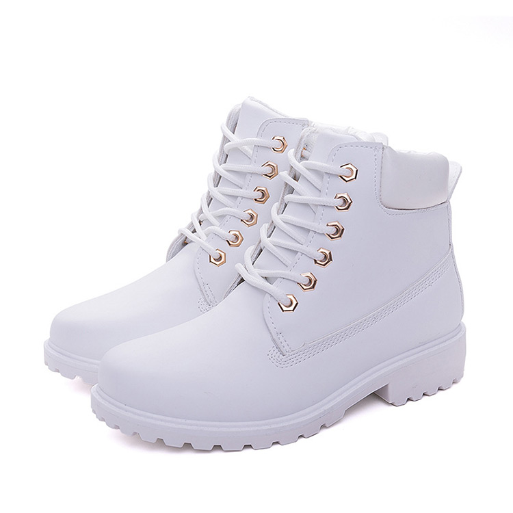 Winter boots women shoes 2019 fashion solid flats sneakers women snow boots women lace-up winter ankle boots casual shoes woman (2)