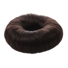 Brown Hairdressing Hair Donut Ring Bun Shaper Styler(China)