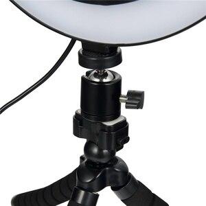 Image 3 - 6/8/10 אינץ LED Selfie טבעת אור צילום Selfie טבעת תאורה איפור וידאו חי עם חצובה Stand סטודיו טבעת מנורה
