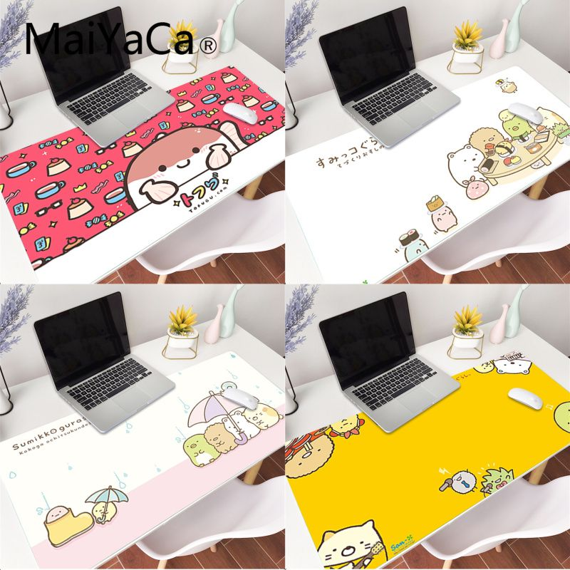 MaiYaCa Cute Kawaii Japanese Characters Rubber Pad to Mouse Game Gaming Mouse Pad Large Deak Mat 700x300mm for overwatch/cs go