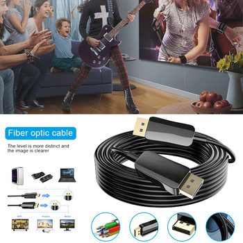 Displayport Fiber Cable 8K 60HZ Slim Flexible Fiber DP to DP Cable High Speed DJA99
