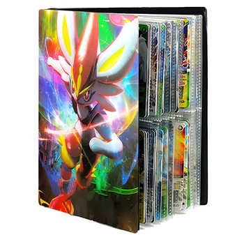Game Pokemon Cards Album Book 240Pcs Anime Card Collectors Holder Loaded List Capacity Binder Folder Pokemons Toys for gifts Kid