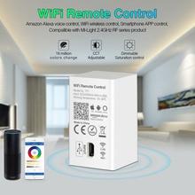 MiBOXER YT1 Remote Controller Amazon Alexa Voice Control WiFi Wireless & Smartphone APP Control work with Milight 2.4G Series miboxer yt1 remote wifi led controller amazon alexa voice control wifi wireless