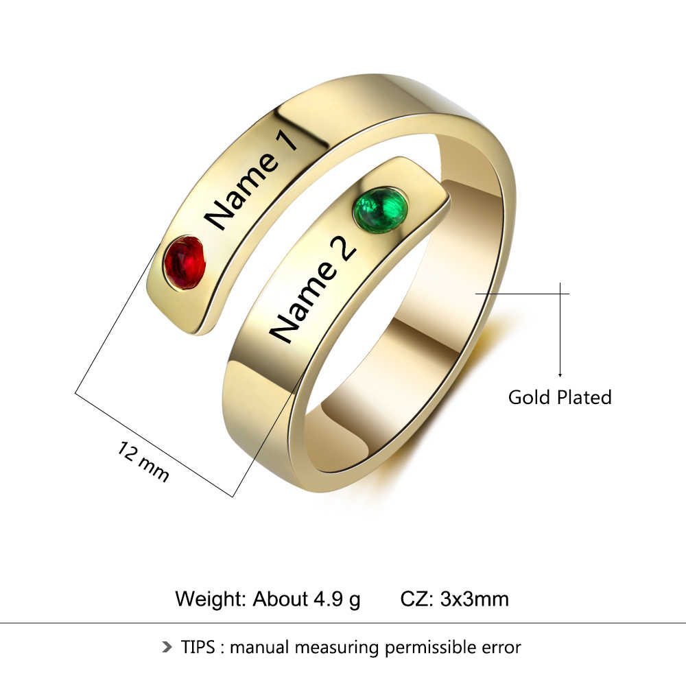 Initial ring Gift for women Personalized Mommy Jewelry Engraved ring,1-3 Personalized Ring Gift for mom Stacking Rings women ring