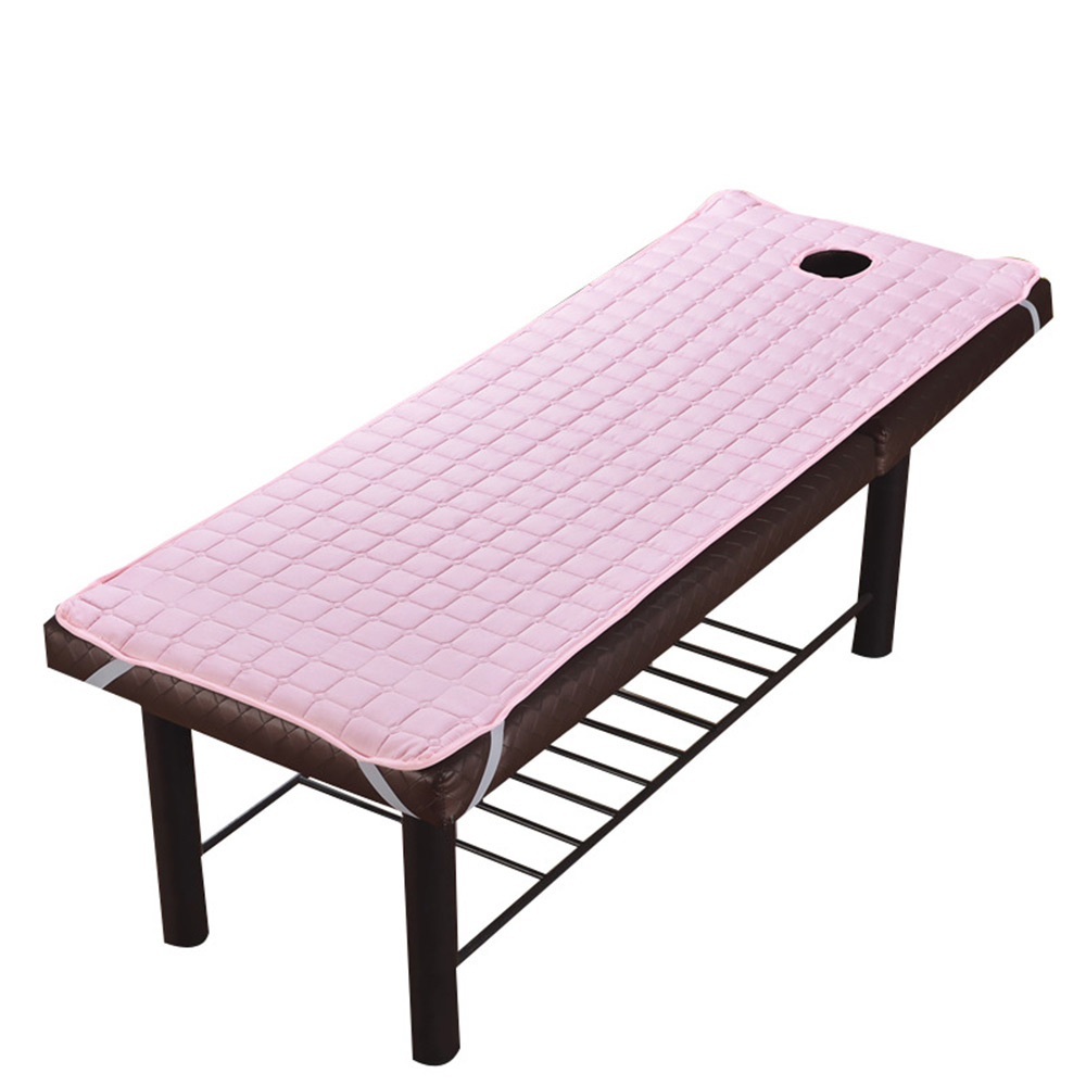 Bed Sheet SPA Treatment Solid Plaid Beauty Massage Table Skin Friendly Material Massage Sheet Beds Cover With Round Breath Hole