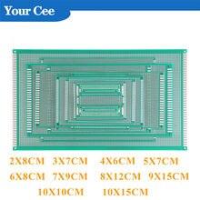 Circuit imprimé universel Double face pour Arduino, 2x8, 3x7, 4x6, 5x7, 6x8, 7x9, 8x12, 9x15, 10x10, 10x15cm