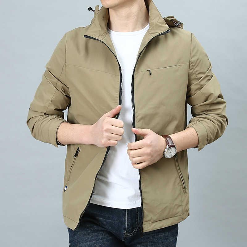 유럽 스타일 봄 여름 남성 자 켓 및 코트 슬림 맞는 패션 캐주얼 빈티지 자 켓 오버 코트 남자 XXXL 플러스 크기 A665