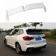 Car Styling ABS Plastic Painted Black White Blue Color Rear Roof Trunk Wing Boot Roof Spoiler For BMW X3 2018 2019 2020