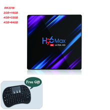 Yeni 2.4G 5G WIFI Bluetooth 4.0 RK3318 medya oynatıcı Android10.0 akıllı TV kutusu H96 Max