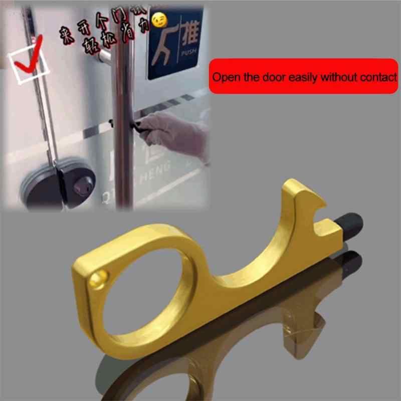 Multifunction Touch Free EDC Handheld Key Door Opener No Contact Stylus Keychain
