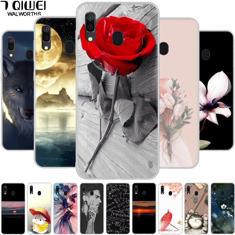 For Samsung Galaxy A20 Cas Silicone Clear Soft TPU Phone Case For Coque Samsung Galaxy A30 Case A 30 2019 Cover A20S A30S