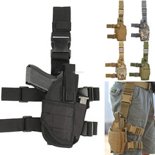 Universal gota perna arma coldre destro tático coxa pistola saco bolsa perna arnês para todas as pistolas